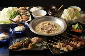 神田にある鶏料理専門の居酒屋「とりいちず」のメニュー