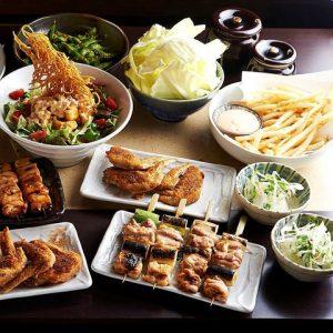 神田の焼き鳥が美味しい居酒屋[とりいちず]の女子会コース