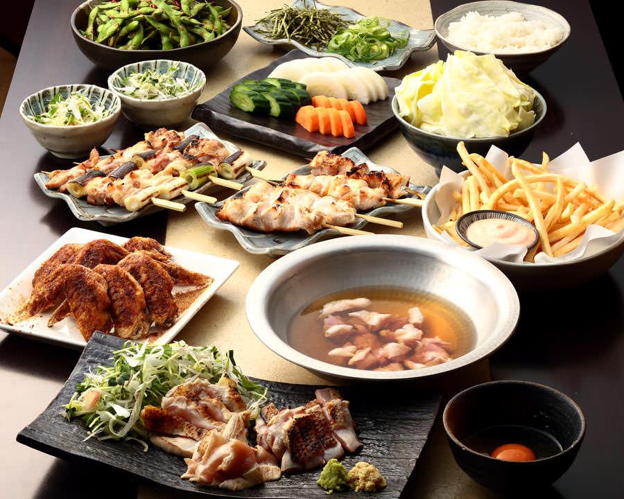 とりいちず酒場 神田北口店の鶏料理を満喫できる〈食べ放題×飲み放題コース〉
