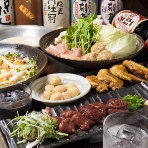 とりいちず酒場 神田北口店の鶏料理もお酒もしっかり楽しめるコース